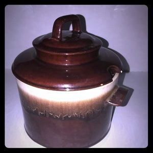 McCoy bean pot vintage brown